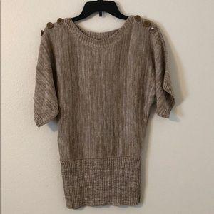 Boatneck Short Dolman Sleeve Sweater
